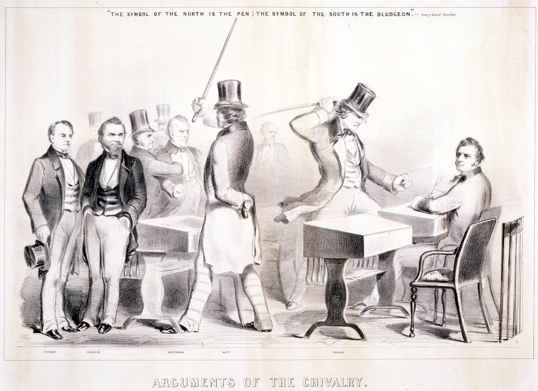 Charles Sumner And Preston Brooks